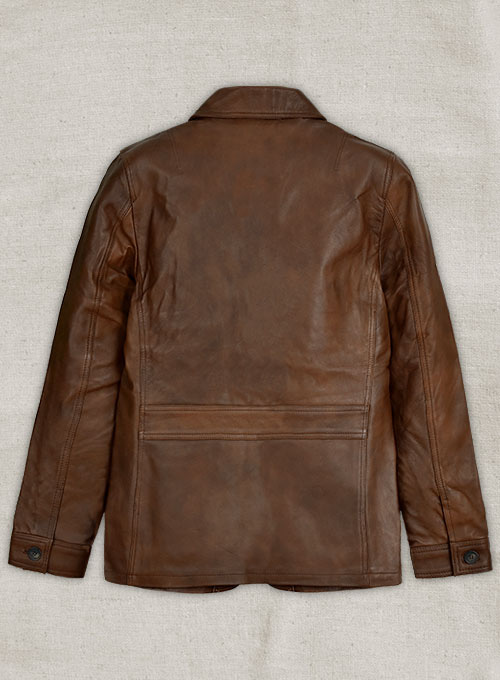 Spanish Brown Daniel Craig Leather Blazer - 38 Regular