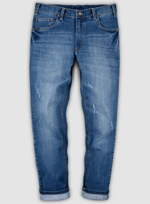 Dagger Stretch Stone Wash Ripped Jeans
