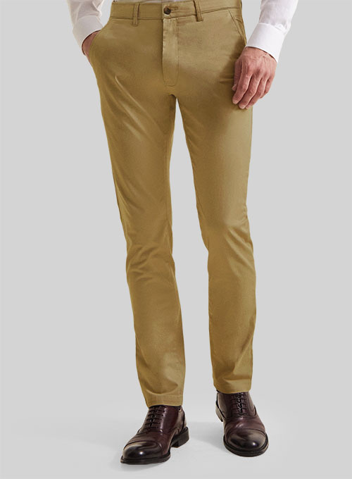 Feather Cotton Canvas Stretch Chino Pants