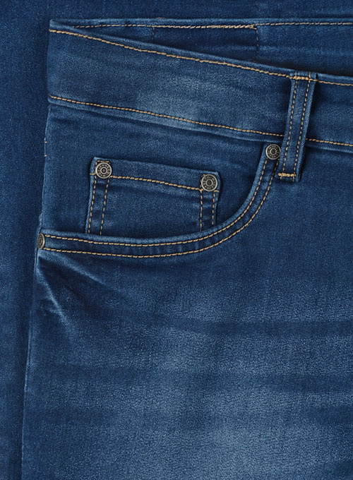 Foster Blue Stretch Stone Wash Whisker Jeans