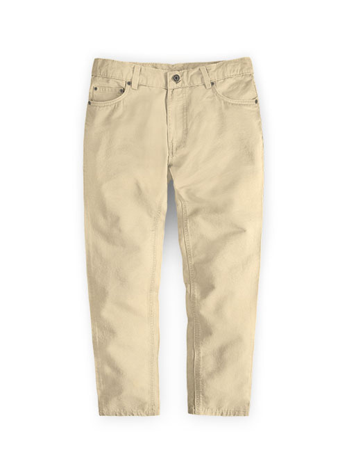 Kids Stretch Summer Weight Light Khaki Chino Jeans