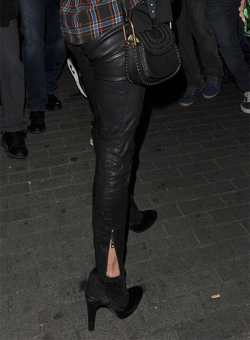 Amber Heard Leather Pants #1