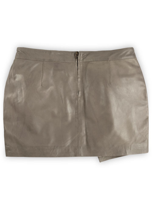 Croma Gray Wax Gypsy Leather Skirt - # 196