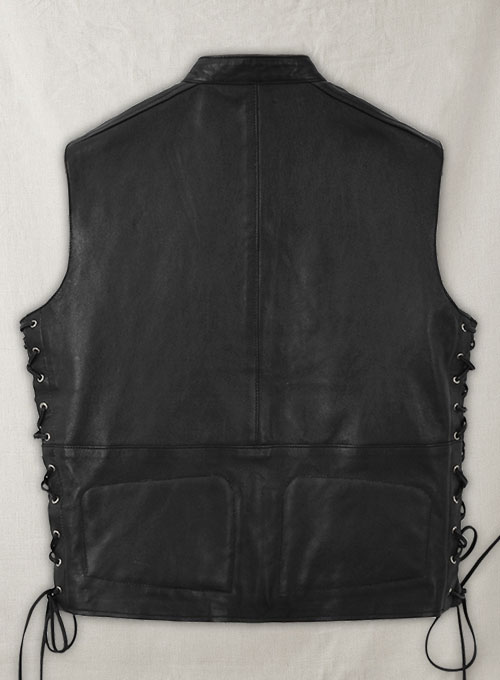 Leather Biker Vest # 333 - Click Image to Close