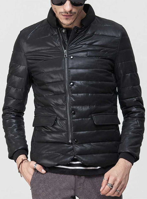 Retro Quilted Leather Jacket # 628