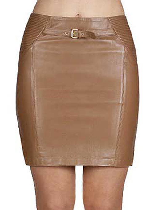 Serene Leather Skirt - # 410