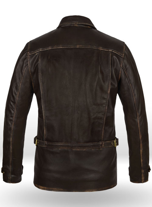 Rubbed Brown Taylor Lautner The Twilight Saga Leather Jacket