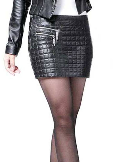 Turtle Leather Skirt - # 186