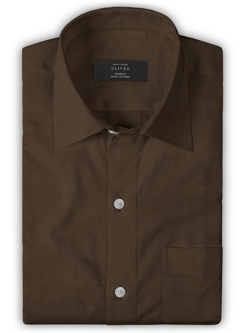 Brown Poplene Shirt