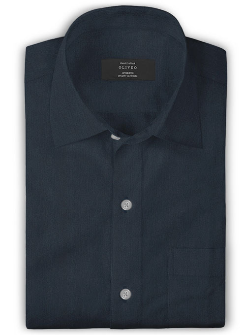 Giza Rich Blue Cotton Shirt- Full Sleeves