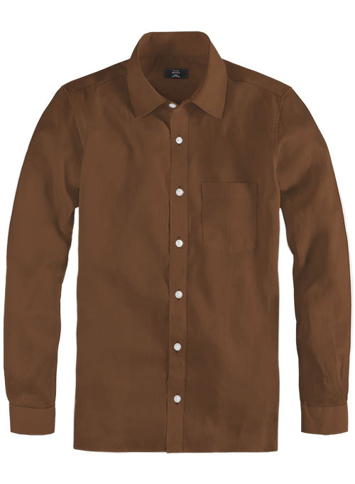 Giza Rust Cotton Shirt- Full Sleeves