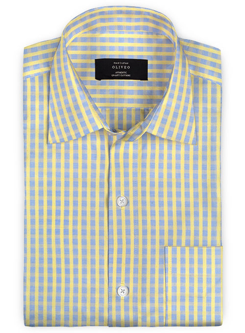 Giza Vendy Checks Cotton Shirt - Full Sleeves