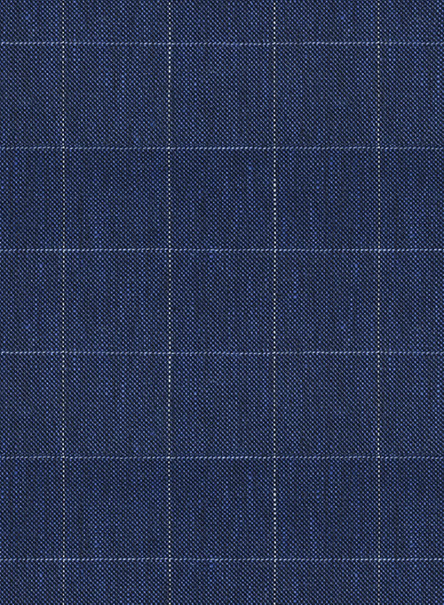 Italian Linen Oxford Blue Checks Suit