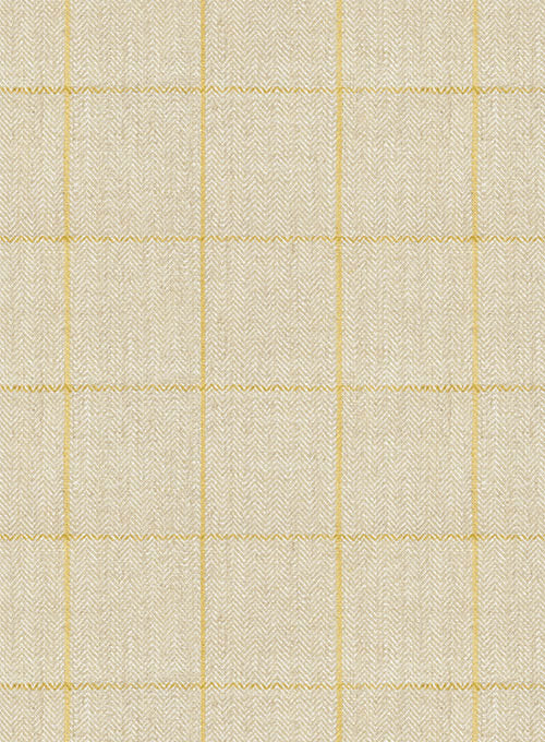 Italian Linen Prima Beige Checks Suit