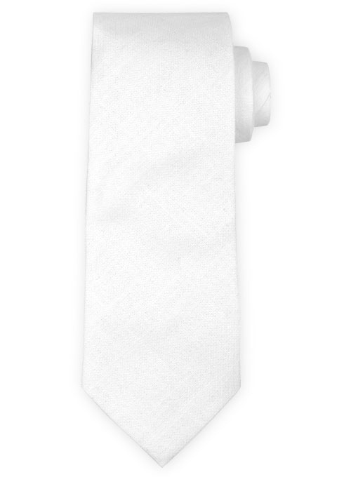 Linen Tie - Tropical White