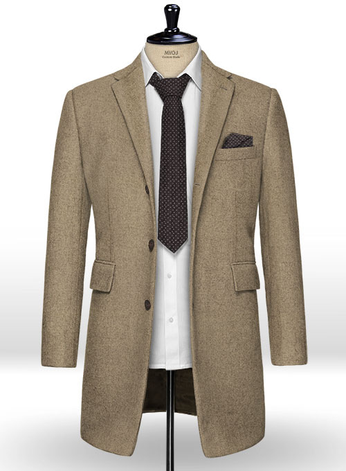 Light Weight Light Brown Tweed Overcoat