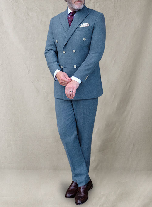 Light Weight Turkish Blue Tweed Suit