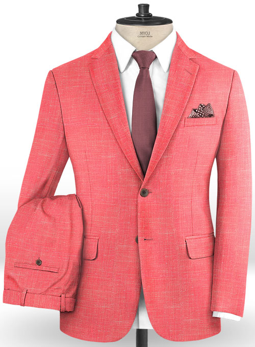 Mystic Pink Wool Suit