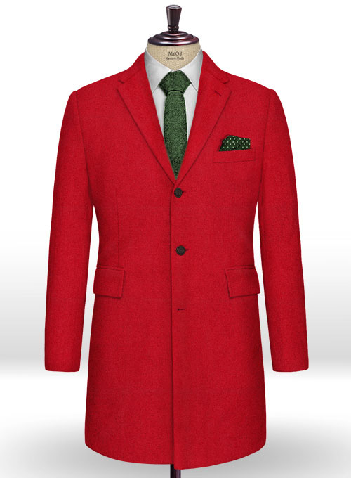 Naples Red Tweed Overcoat