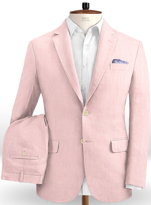Roman Light Pink Linen Suit
