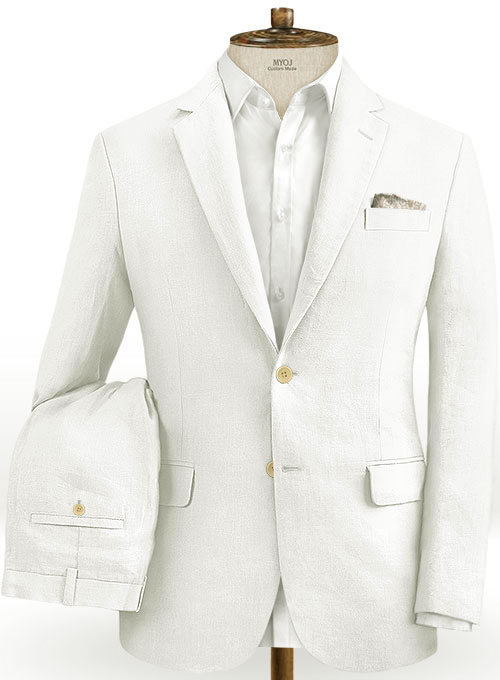 Safari Ivory Cotton Linen Suit