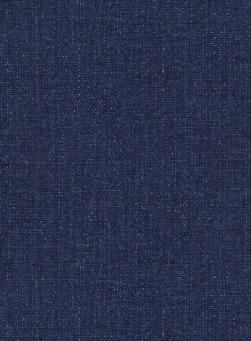 Solbiati Denim Dark Blue Linen Suit