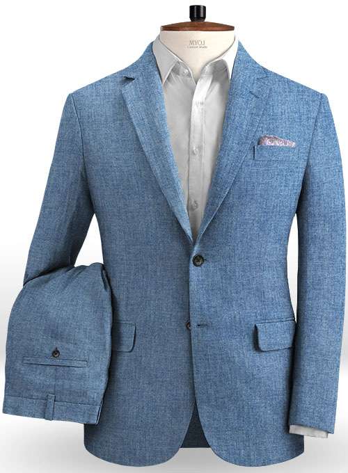 Solbiati Denim Light Blue Linen Suit