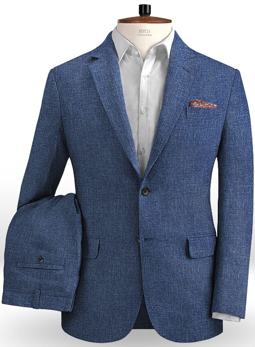 Solbiati Denim Mid Blue Linen Suit