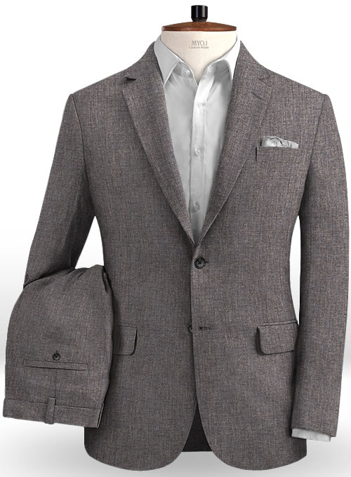 Solbiati Raw Brown Linen Suit
