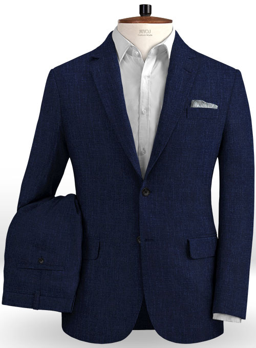Solbiati Dark Blue Linen Suit