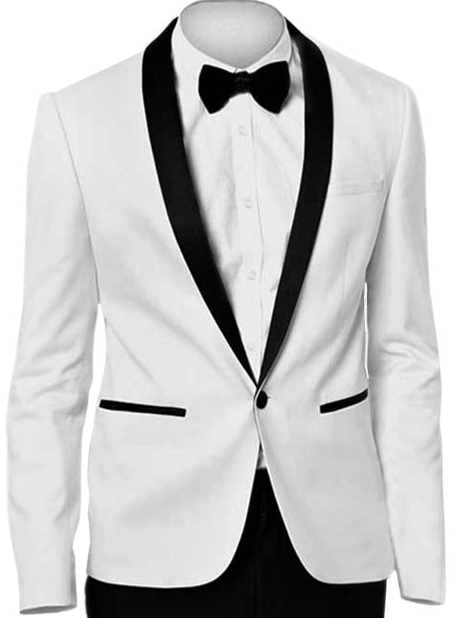 White Tuxedo Jacket - Express Delivery