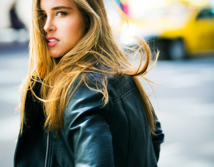 veste en cuir imperméable