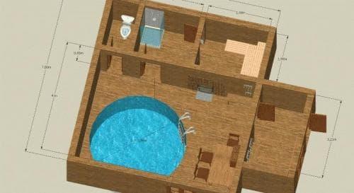 Планировка бани с бассейном важный этап строительства