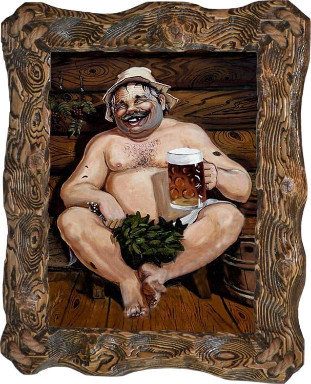 Русская баня открытка