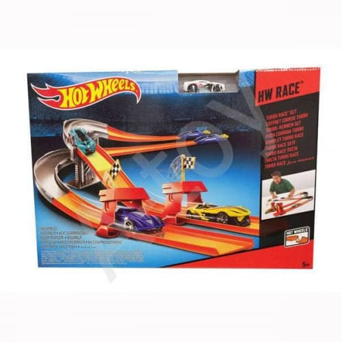 купить Hot Wheels серия Треки, Трек 3 в 1 Турбо-Гонка
