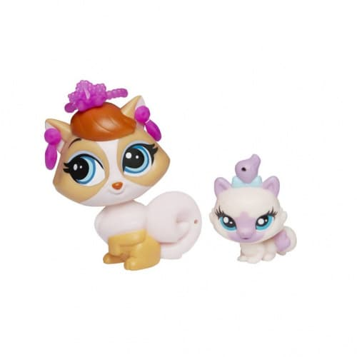 купить Зверушка Littlest Pet Shop и ее малыш - Madame Pom LeBlanc and Paprika Price A8427