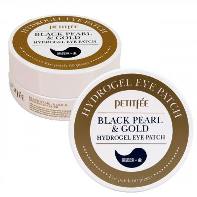 Petitfee Гидрогелевые патчи для глаз Black Pearl & Gold Eye Patch