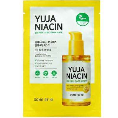 Тканевая маска для лица с экстрактом юдзу SOME BY MI YUJA NIACIN BLEMISH CARE SERUM MASK